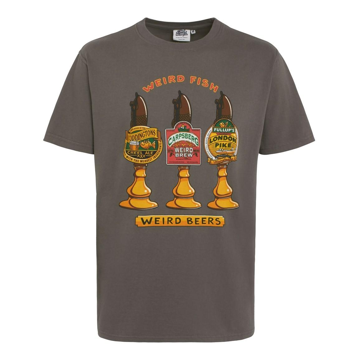 Weird Fish Weird Beers Artist T-Shirt Charcoal Size 2XL
