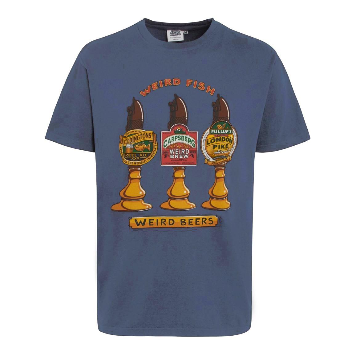 Weird Fish Weird Beers Artist T-Shirt Blue Mirage Size 2XL