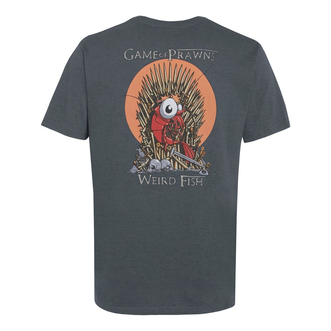 Game Of Prawns Artist T Shirt Charcoal