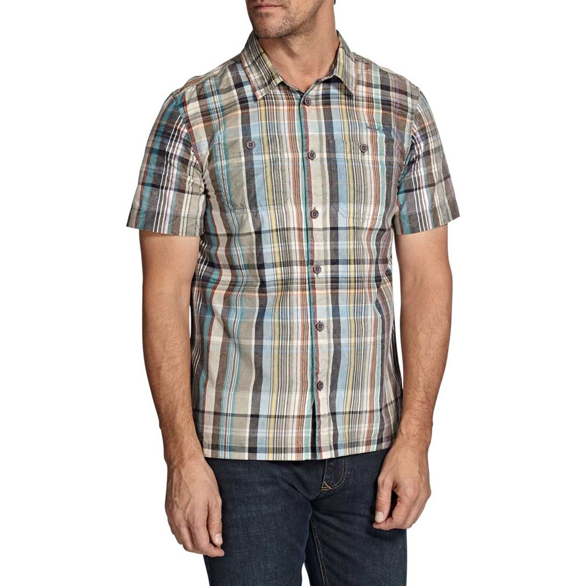 Weird Fish Helston Check Print Short Sleeve Shirt Multi Check