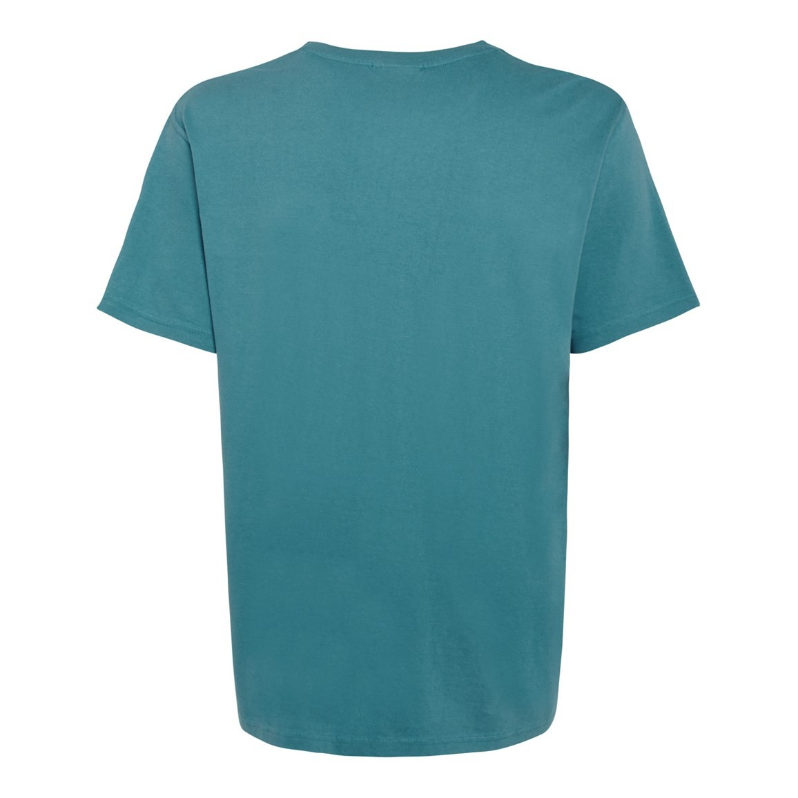 Bones Embroidered Logo Classic Plain T Shirt Adriatic Blue