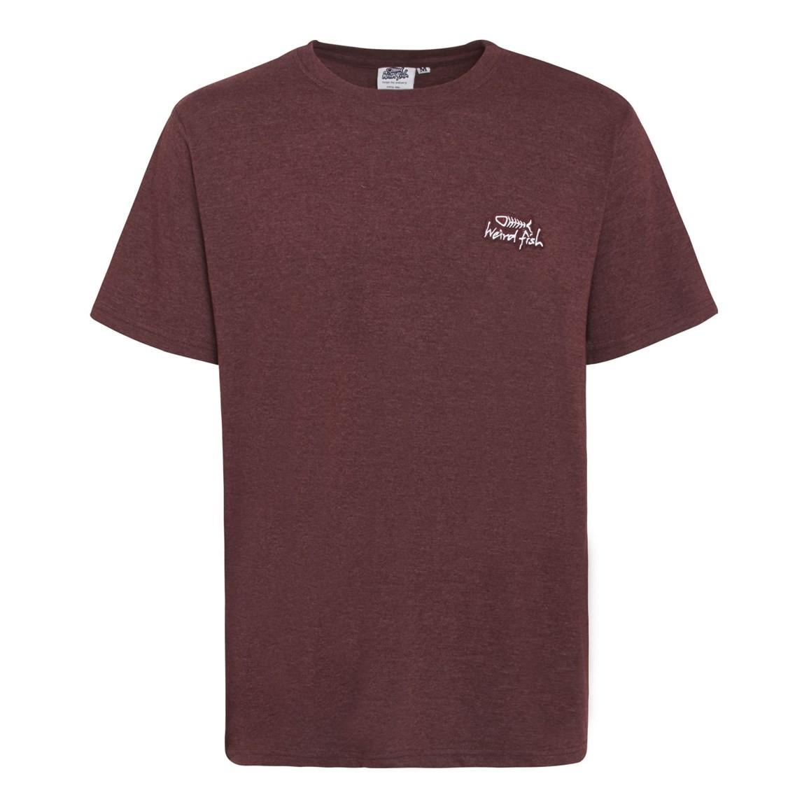 Bones Embroidered Logo Classic Plain T Shirt Conker Marl