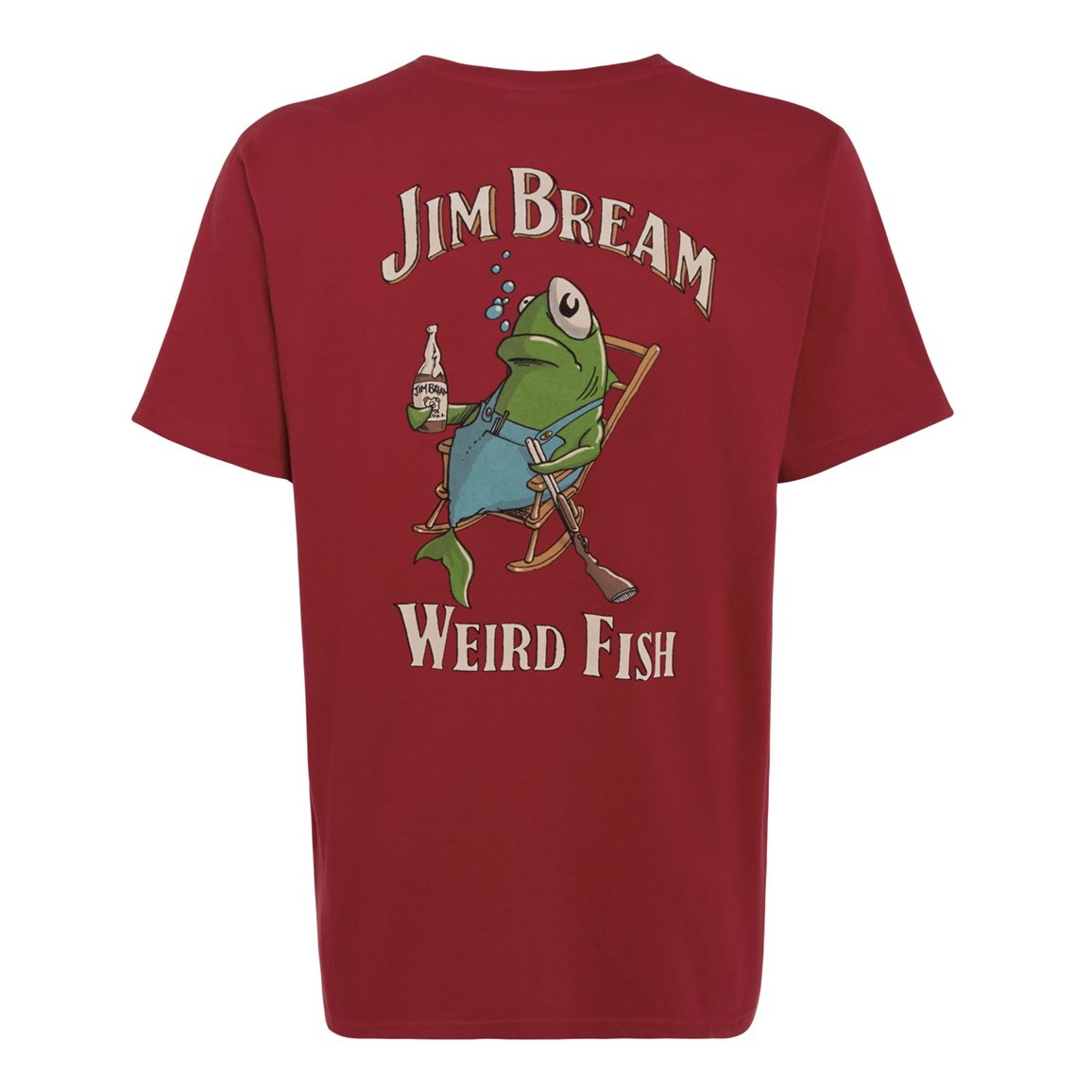 Weird Fish Jim Bream Printed Artist T-Shirt Jester Red