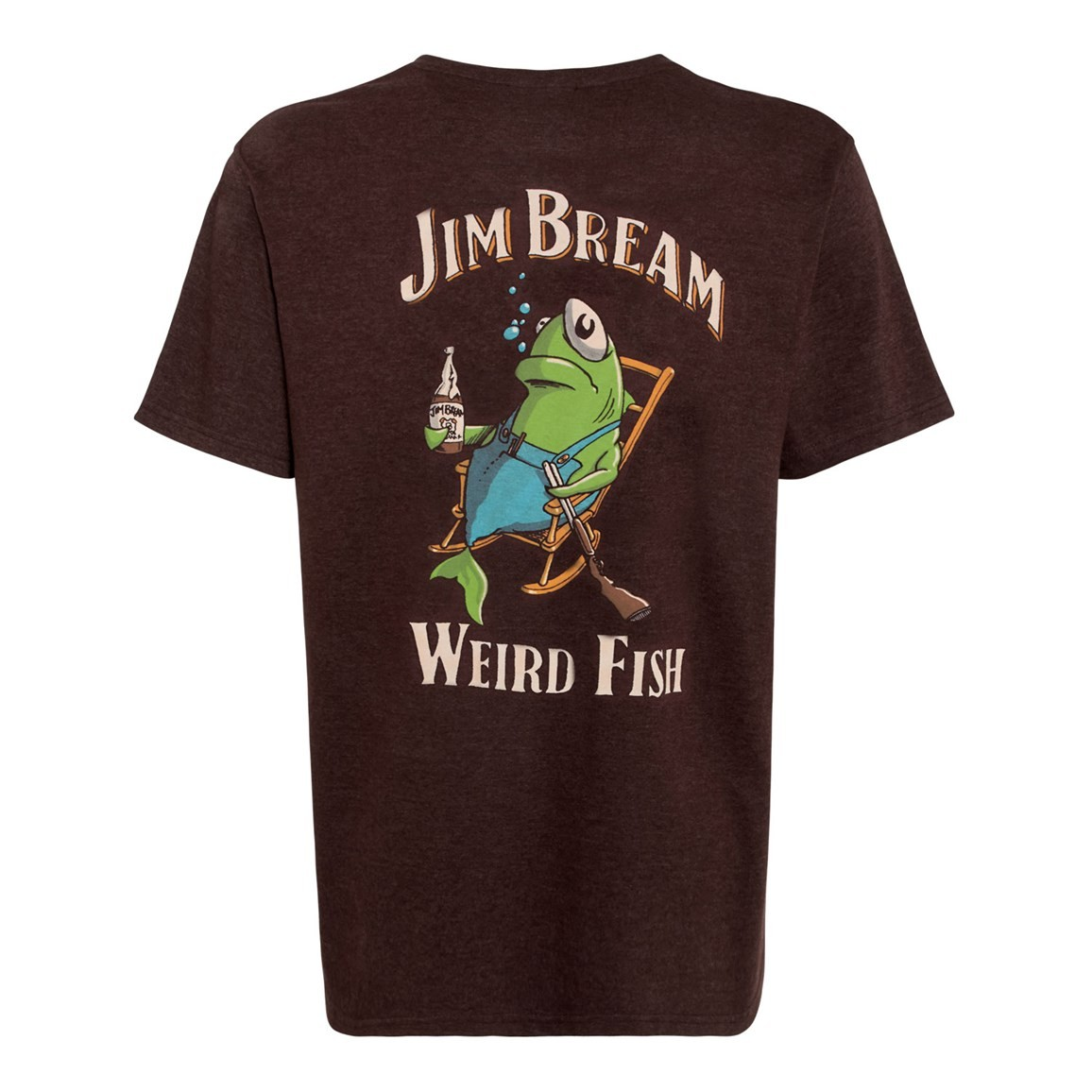 Weird Fish Jim Bream Printed Artist T-Shirt Conker Marl
