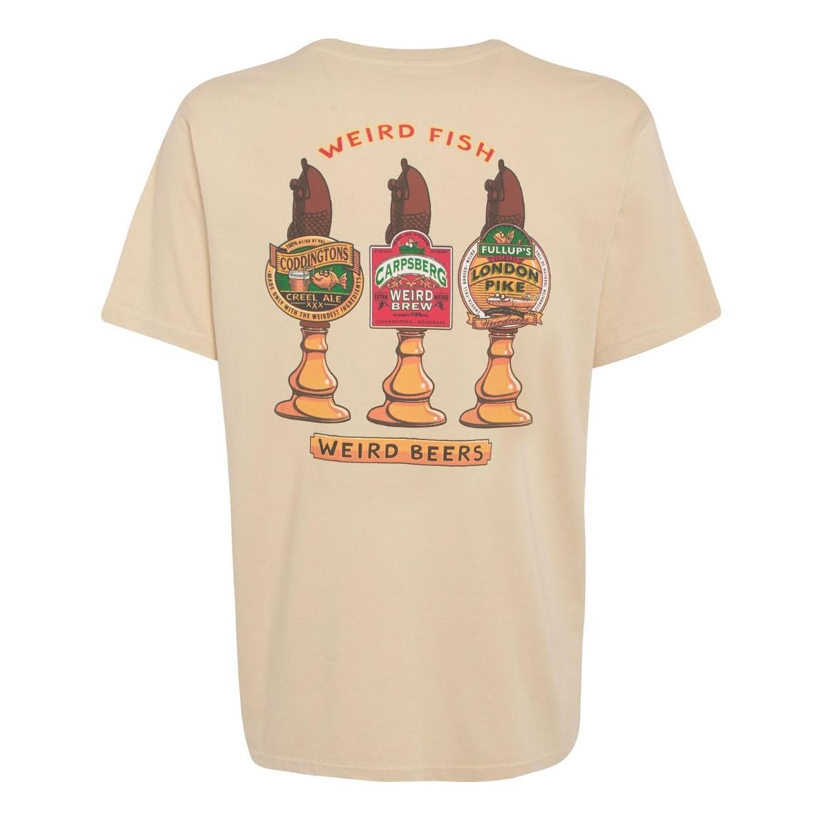 Weird Fish Weird Beers Printed Artist T-Shirt Oyster