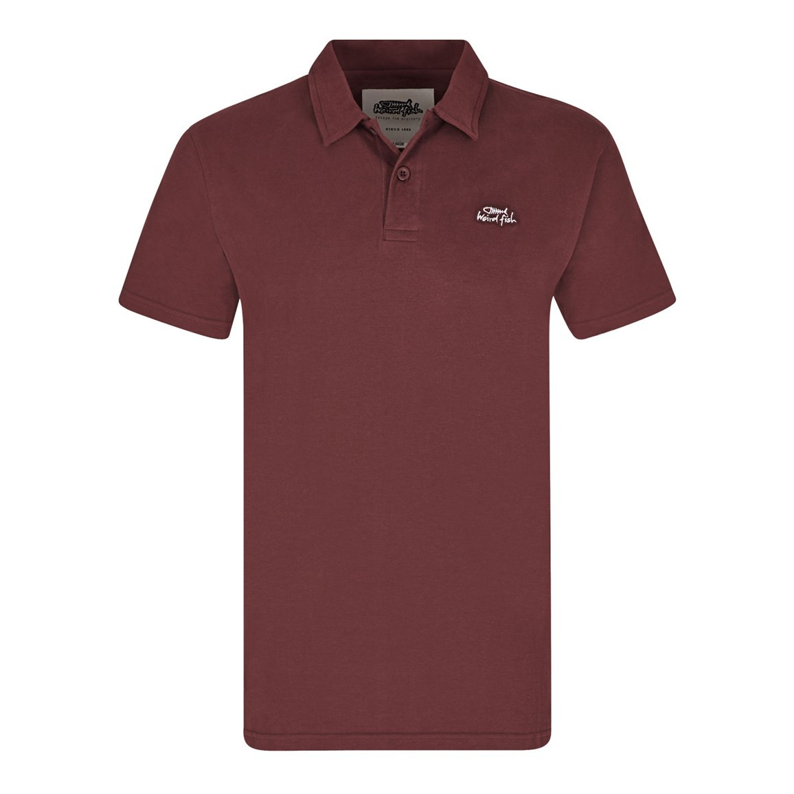 Image of Weird Fish Andrew Plain Jersey Polo Shirt Conker Size 2XL