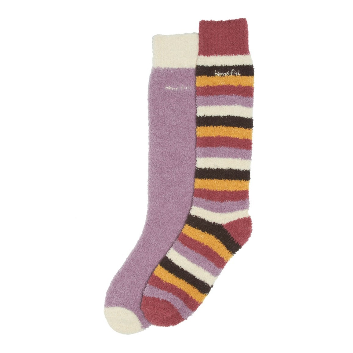 Weird Fish Park Fluffy Socks Pack of 2 Pairs Heather