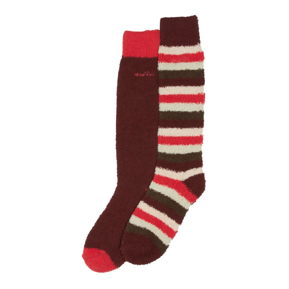 Weird Fish Park Fluffy Socks Pack of 2 Pairs Port