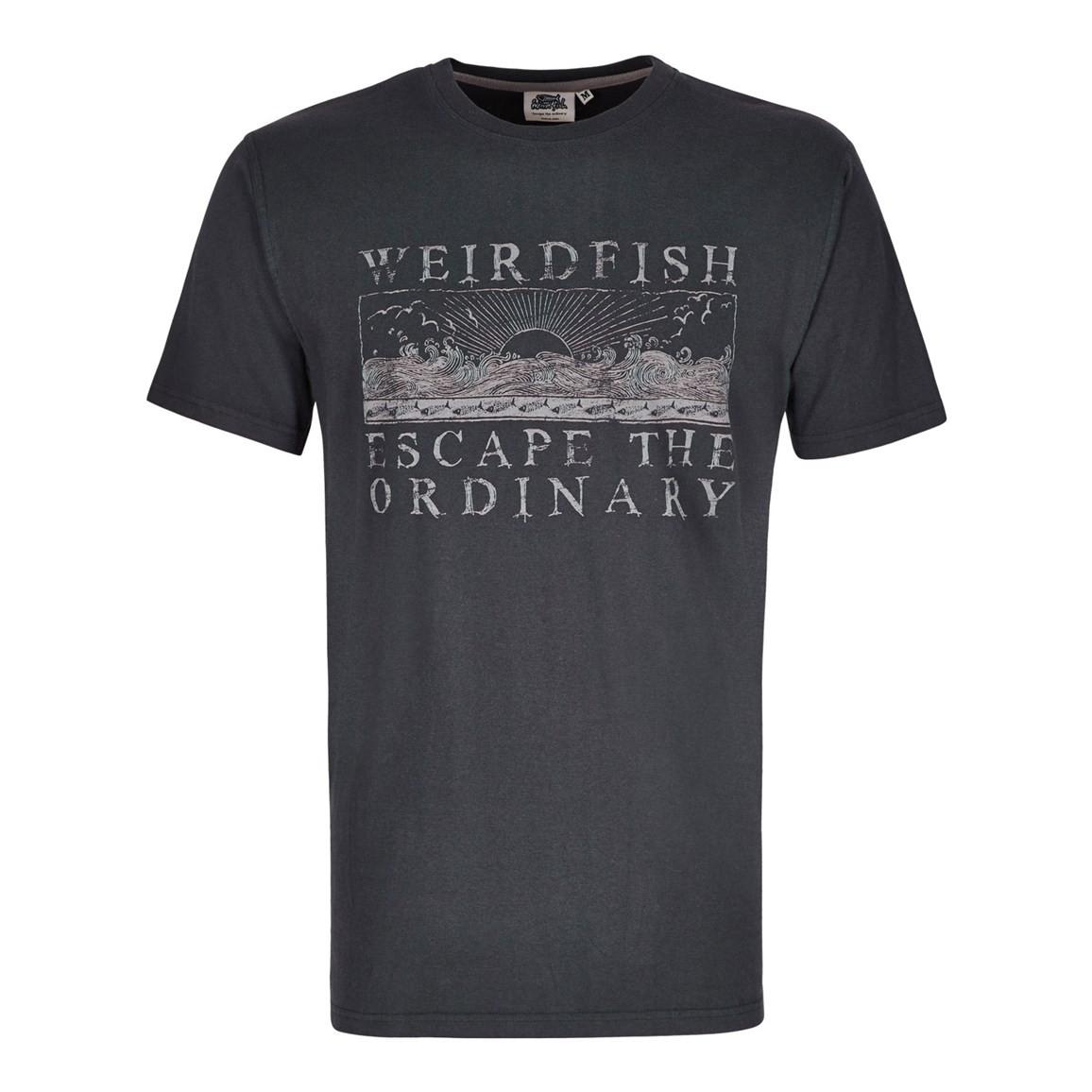 Weird Fish Raziel Branded Graphic Print T-Shirt Ebony Size 2XL