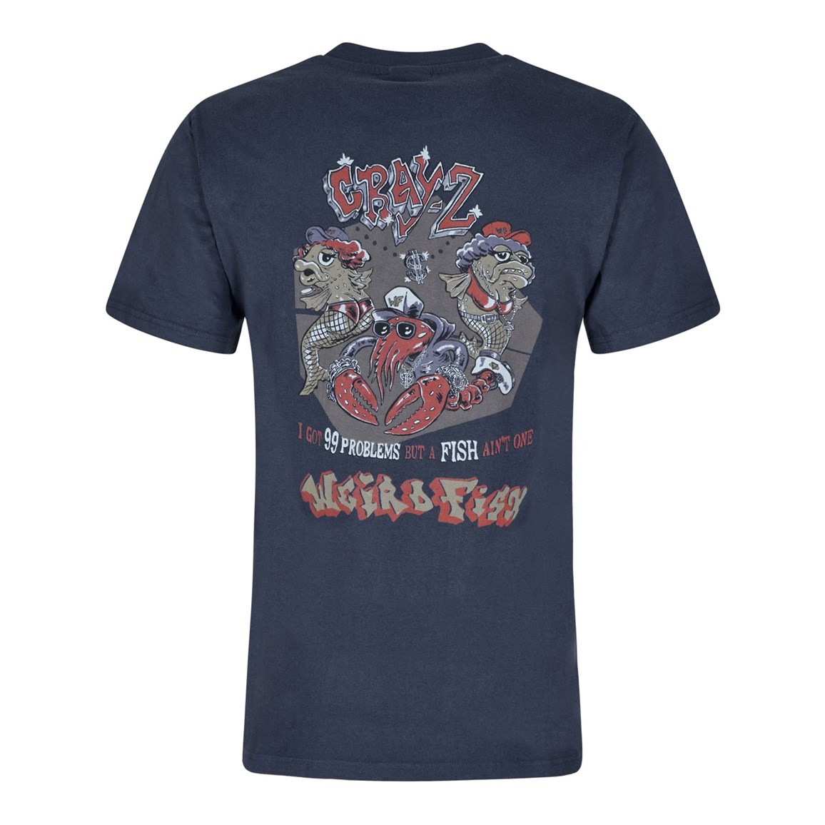 Weird Fish Cray Z Printed Artist T-Shirt Dark Navy