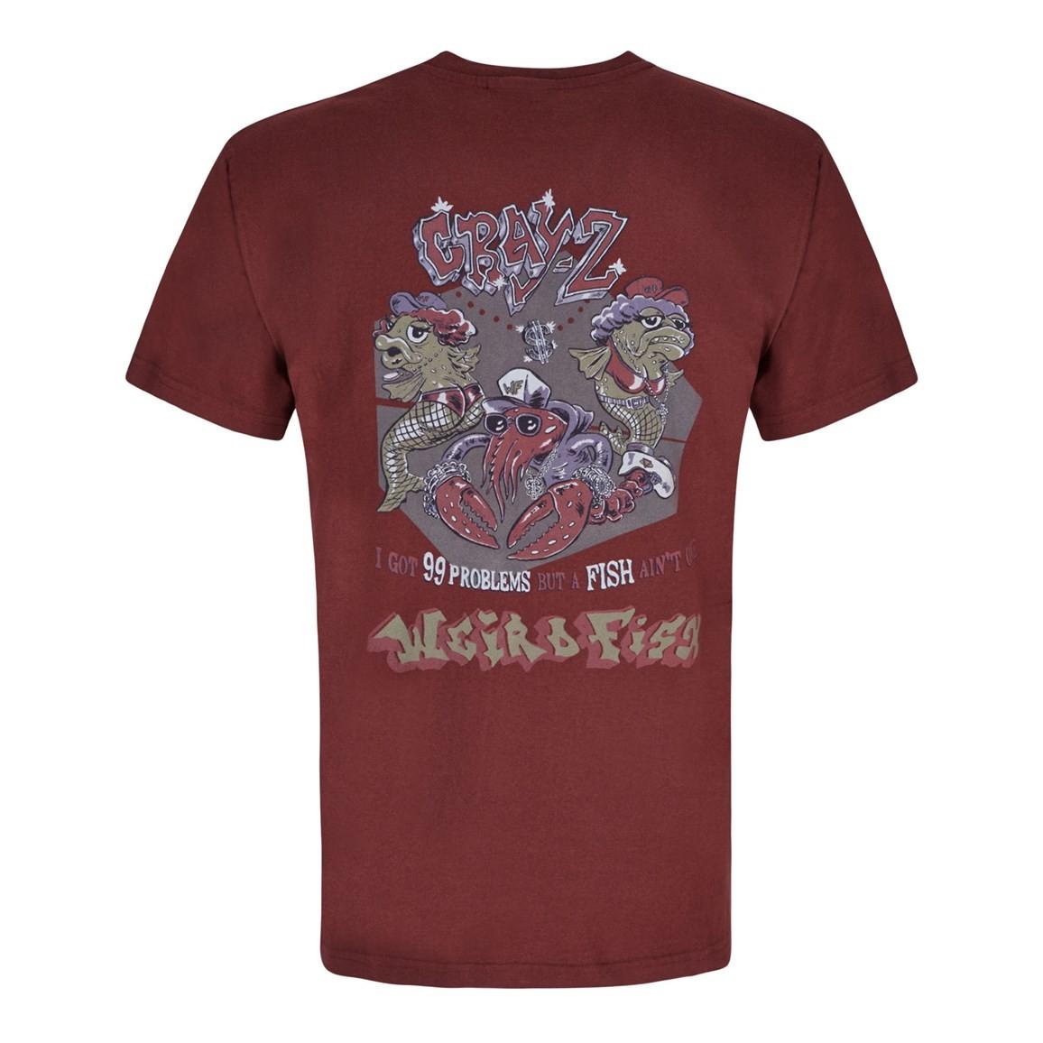 Weird Fish Cray Z Printed Artist T-Shirt Conker
