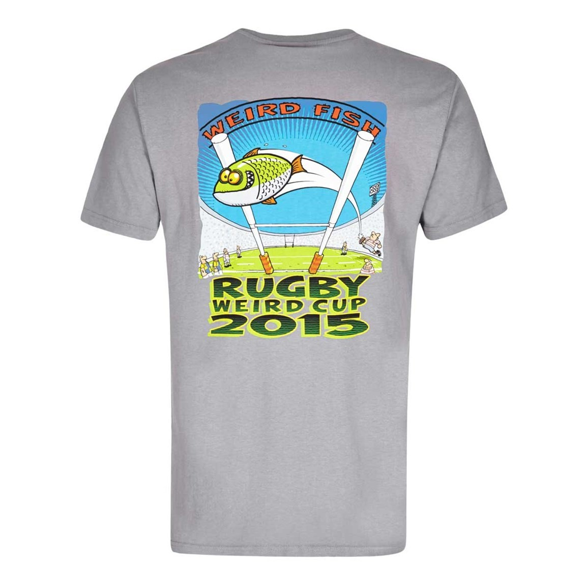 Weird Fish Rugby World Cup Printed Artist T-Shirt Frost Grey Size 2XL