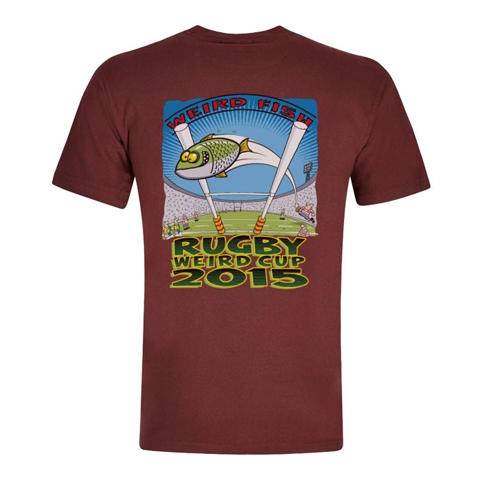Image of Weird Fish Rugby World Cup Printed Artist T-Shirt Conker Size S