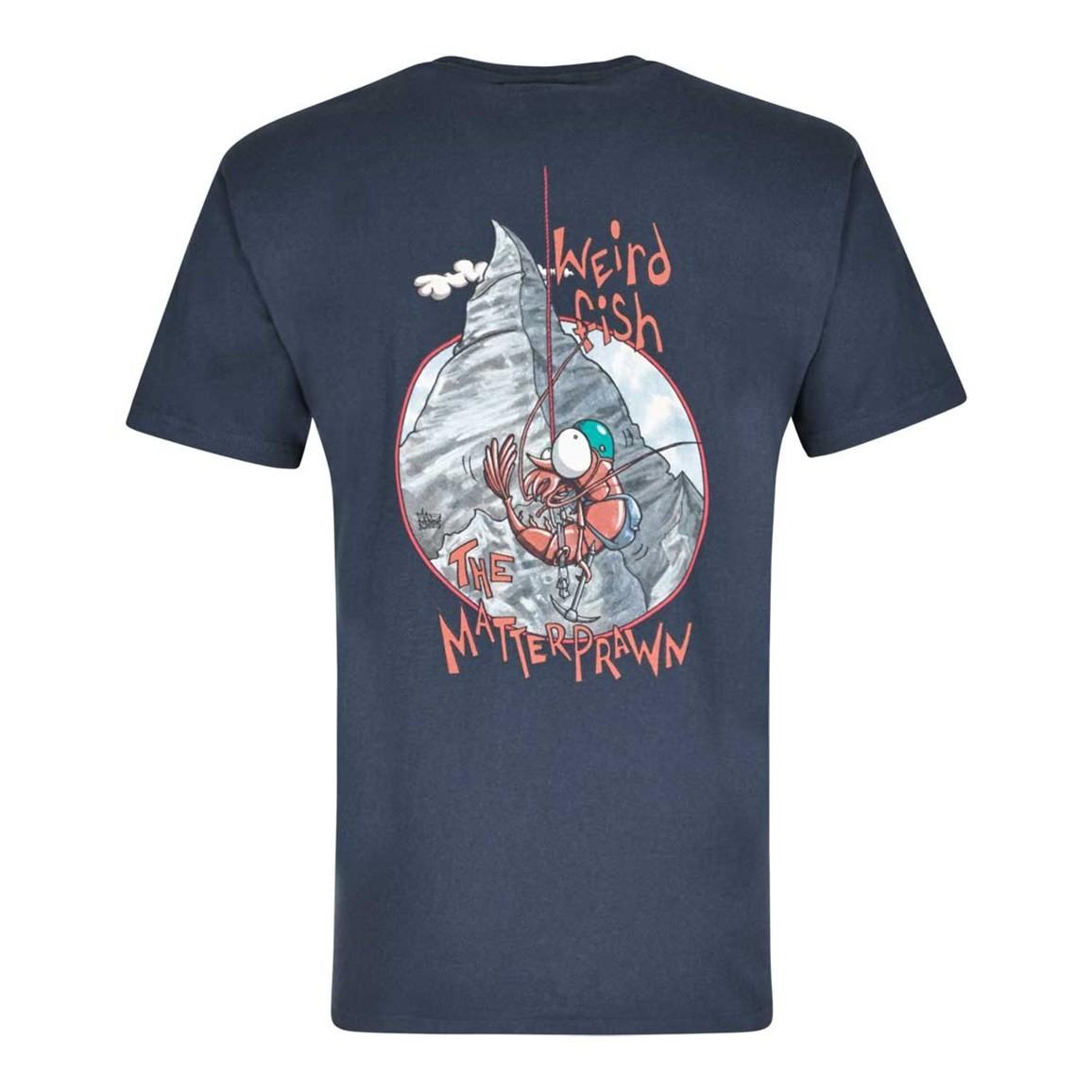 Image of Weird Fish Matterprawn Printed Artist T-Shirt Dark Navy Size M