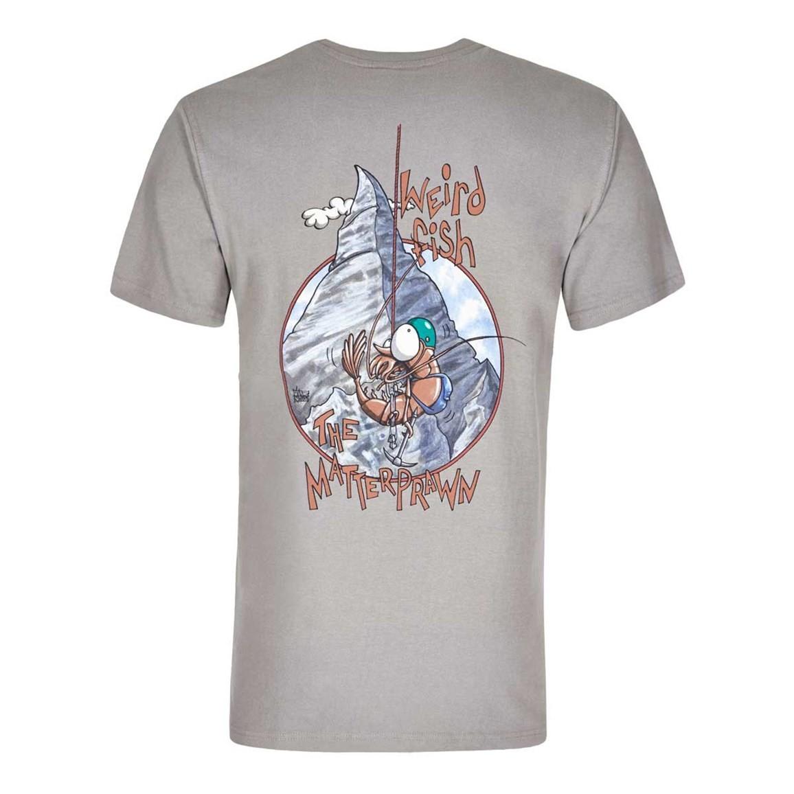 Weird Fish Matterprawn Printed Artist T-Shirt Frost Grey