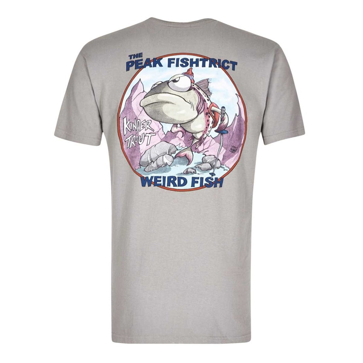 Weird Fish Peak Fishtrict Printed Artist T-Shirt Frost Grey