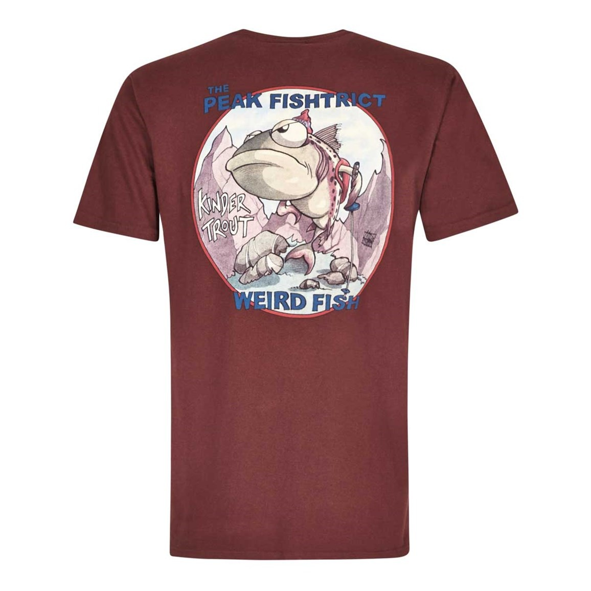 Weird Fish Peak Fishtrict Printed Artist T-Shirt Conker