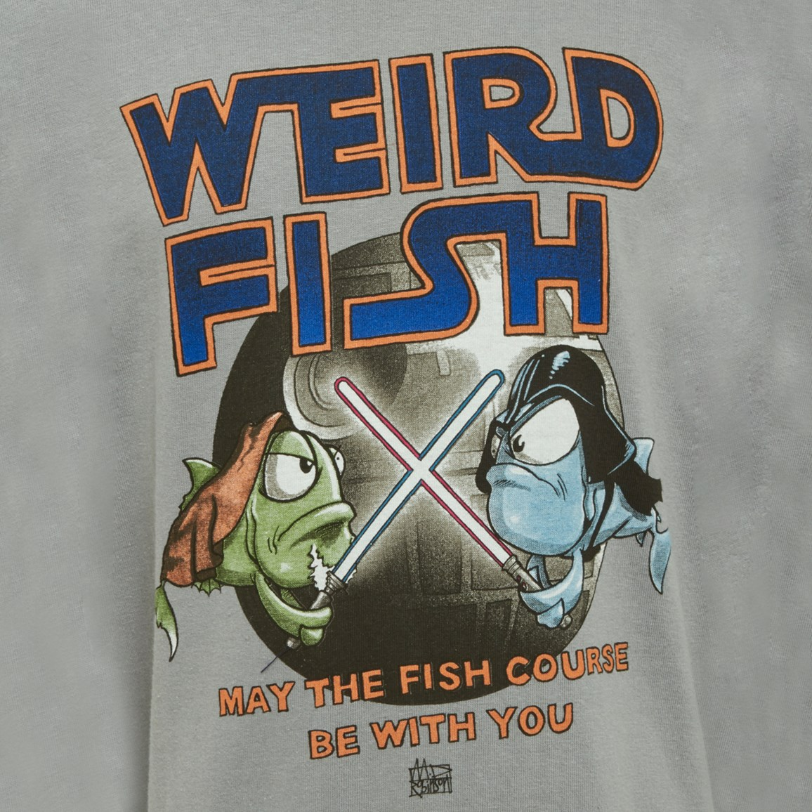 Weird Fish Fish Course Artist T-Shirt Steel Size 11-12