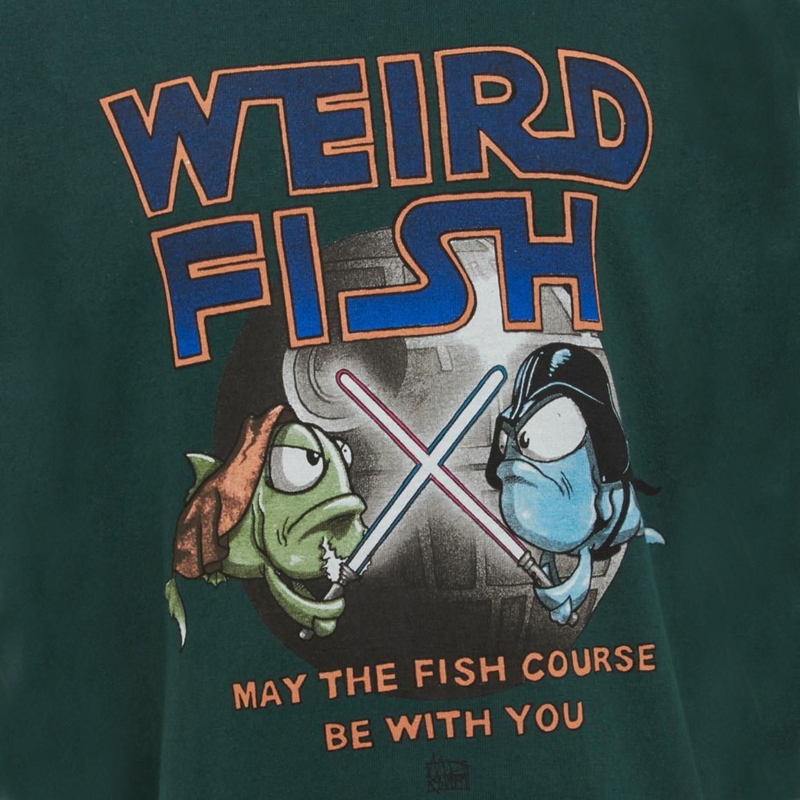 Weird Fish Fish Course Artist T-Shirt Evergreen Size 11-12