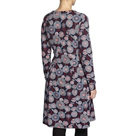 Drobak Printed Woven Dress with Cross Over Neckline Ink