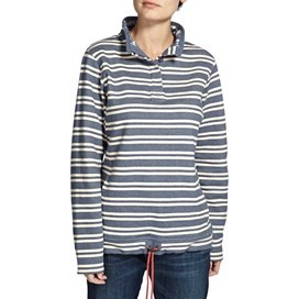 Anderson Striped 1/4 Button Fleeced Sweatshirt Storm