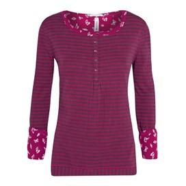 Royal Long Sleeve Striped Top Raspberry