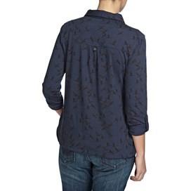 Agua Bird Print Long Sleeve Jersey Shirt Dark Navy