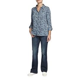 Agua Bird Print Long Sleeve Jersey Shirt Storm