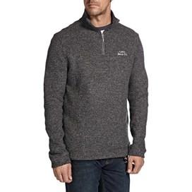 Tindal Textured 1/4 Zip Soft Knit Fleece Sweatshirt Frost Grey