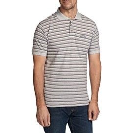 Alderton Textured Stripe Classic Polo Shirt Jester Red