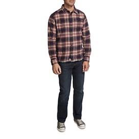 Ashburton Flannel Check Long Sleeve Shirt Crimson