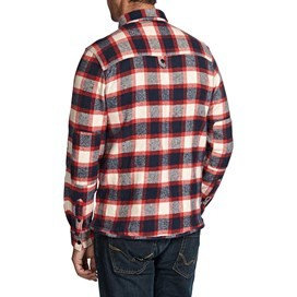 Ashburton Flannel Check Long Sleeve Shirt Cloud Cream