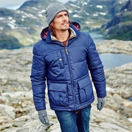 Newlyn Quilted Hooded Jacket Dark Navy