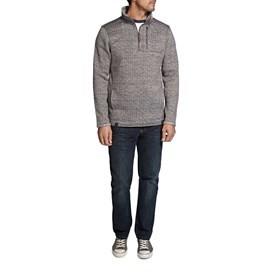 State 1/4 Zip Tech Soft Knit Fleece Sweatshirt Frost Grey