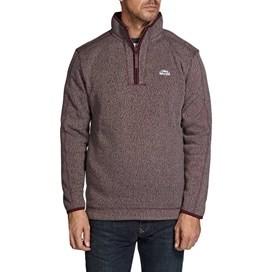 Talas Plain 1/4 Zip Soft Knit Fleece Sweatshirt Zinfadel