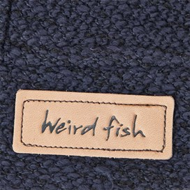Naunton Jarse Button Neck Hooded Fleece Dark Navy