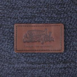 Tavistock 1/4 Button Jarse Knit Hooded Fleece Dark Navy