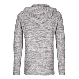 Tavistock 1/4 Button Jarse Knit Hooded Fleece Frost Grey