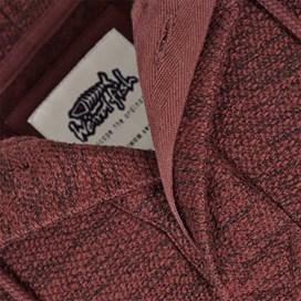Tavistock 1/4 Button Jarse Knit Hooded Fleece Conker