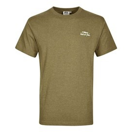 Bones Embroidered Logo Classic Plain T-Shirt Military Olive Marl