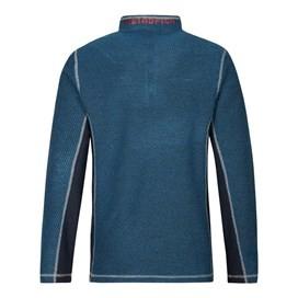 Vaileo 1/4 Zip Fleece Lined Macaroni Sweatshirt Dark Blue