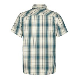 Kale Cotton Short Sleeve Checked Shirt Sea Green