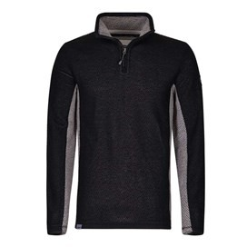 Siren 1/4 Zip Active Macaroni Sweatshirt Black