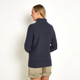 Eartha Full Zip Seira Soft Knit Jacket Navy