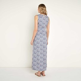 Cloud Printed Maxi Dress Light Denim