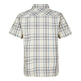 Aitne Cotton Short Sleeve Check Shirt Stone