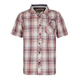 Aitne Cotton Short Sleeve Check Shirt Baked Apple