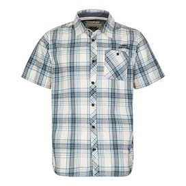 Aitne Cotton Short Sleeve Check Shirt Airforce Blue