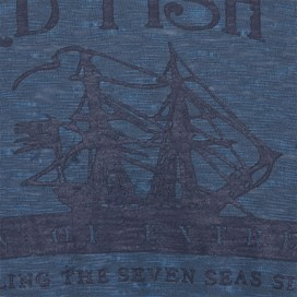 Shipping Printed Graphic T-Shirt Cadet Blue