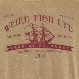Shipping Printed Graphic T-Shirt Pebblestone